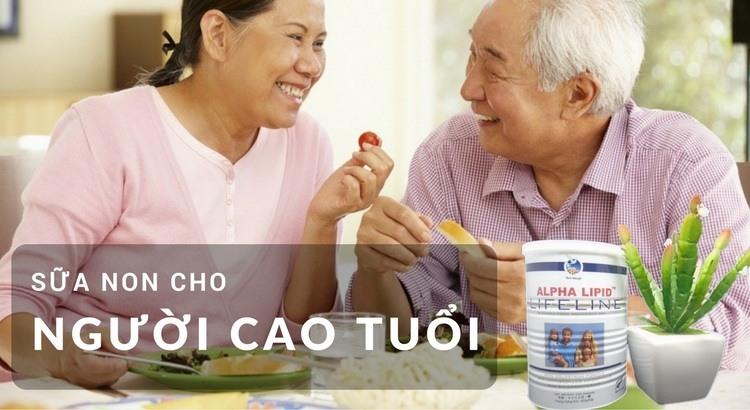 Sữa non Alpha Lipid cho người già