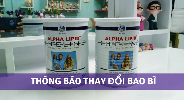 Thông báo thay đổi bao bì sữa non alpha lipid